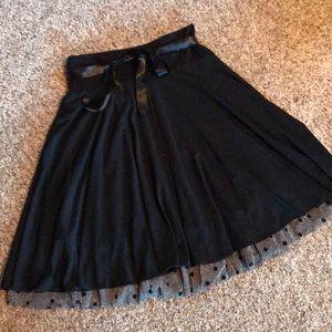 Flouncy Black Skirt